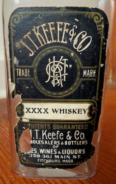 GUCKENHEIMER Hand Made Rye WHISKEY Label Alcohol Silver Old Vintage