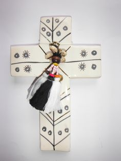 Handmade ceramic cross by CarlaDinnageCeramics on Etsy
