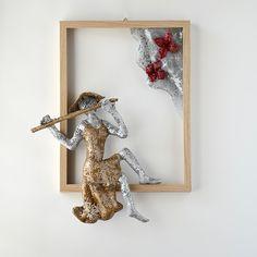 Framed art flutist woman sculpture Housewarming gift by nuntchi Metal Wall Art Decor, Wall Decor, Wire Mesh, Female Art, House Warming, Framed Art, Contemporary Art, Unique Gifts, Sculpture
