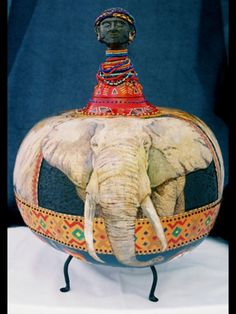 gourd art Inspiration for paper mache r clay