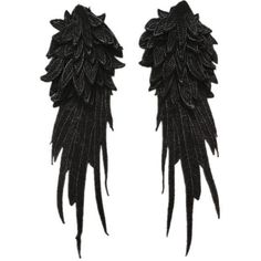 1pair Black/White HUGE Angel Wings Patch,Applique Patch,Paillette... ($9.35) ❤ liked on Polyvore featuring costumes, vintage costumes, angel wing costume, wing costume, white halloween costumes and black and white costume