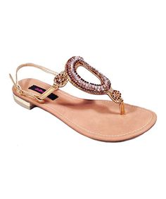 Take a look at the Dollhouse Gold Utopia Sandal on #zulily today!