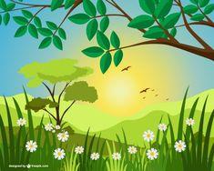 Sunny landscape illustration - Freepik.com-Trees-pin-55