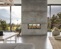 Comme son nom l'indique, Elium tunnel permet une vision incroyable de la flamme. La modernité et l'originalité de ce foyer gaz deviendra un élément de décoration contemporaine pour la pièce qu'il habillera. Home Decor, Fireplace, Decor, Foyer