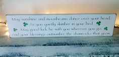 Irish Wedding Blessing Proverb Nursery May by AndTheSignSays, $30.00