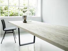 EXTENDING RECTANGULAR OAK TABLE LOWLIGHT TABLE | DK3