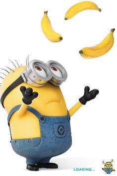 Minion juggling bananas