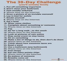 """The 30 Day Challenge - because I was looking up WAY too many """"30-day challenge"""" workouts tonight.."""