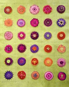 Finished Embroidered Mandalas | Flickr - Photo Sharing!