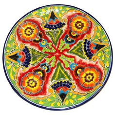 Mexican/Spanish Talavera Plate--i want to get a piece like this and design an entire room around it