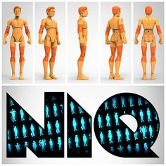 NiQ, The 3D-Printable Action Figure - by 3DKitbash.com 3D Printing 21836