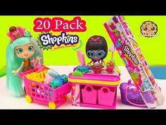 Shoppies Doll Peppa Mint Shops at Small Mart Unboxing 20 MEGA Pack Shopkins Season 4 Petkins Video - YouTube