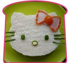 Hello Kitty sandwich...:) @Elizabeth Lockhart vondemkamp