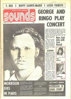 Jim Morrison Doors Cover – Sounds July 1971