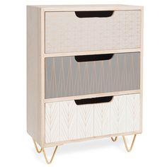 Caja de madera con 3 cajones A 35 cm SCOOP