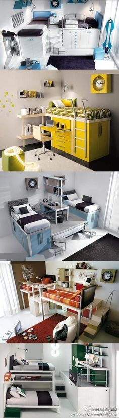 Loft bed. Want one sooooooooooooooooooooooooooo bad! If only money grew on trees *loud, sad sigh*.