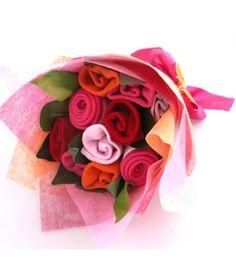 Cadeau de naissance original pour bébé fille, bouquet de chaussettes
