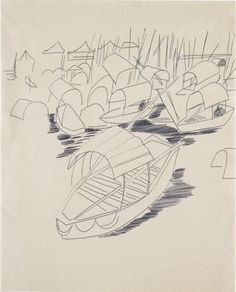 Andy Warhol, Boats, pen on paper
