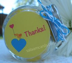 Set of 9 Thanks Favors by SalaamCards on Etsy, $23.00