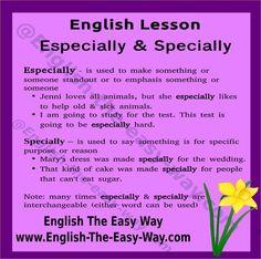 Forum | ________ English Grammar | Fluent LandESPECIALLY – SPECIALLY | Fluent Land