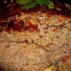 Glazed Stout and Cheddar Meatloaf