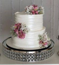 Wedding Cake Photos, White Wedding Cakes, Wedding Cakes With Flowers, Fondant Wedding Cakes, Fondant Cakes, Cupcake Cakes, Mini Cakes, Lolly Cake, Artist Cake