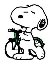 Snoopy commuter cyclist (smaller)