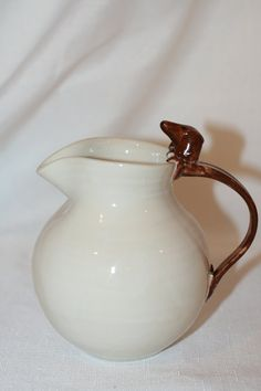 Chocolate Dachshund Doxie Pitcher available through the Furever Dachshund Rescue Etsy Shop!