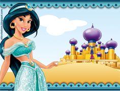 Plantilla invitación Princesa Jazmín