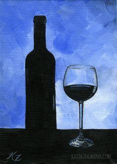 Original FRAMED Acrylic Painting on Canvas Board by KatiaZhukova