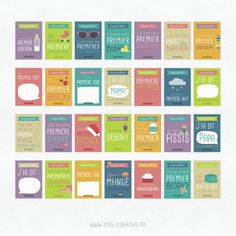 """Kit de cartes à imprimer """"Premières fois de bébé"""""""