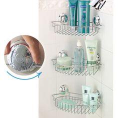 Twist 'N Lock Shower Bin, Shower Storage Rack | Solutions