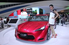 Bloody Speed Girl, Red Toyota FT-86 Concept | Indonesia International Motor Show 2011