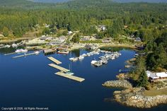 Lund, British Columbia, Canada - that's my uncle's house (bottom right); on Desolation Sound