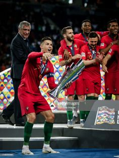Cristiano Ronaldo of Portugal celebrates the victory with the trophy during the match between Portugal v Holland at the Estadio do Dragao on June 2019 in Porto Portugal (Photo by Erwin Spek/Soccrates/Getty Images) Cristiano Ronaldo 7, Cristiano Ronaldo Wallpapers, Messi And Ronaldo, Cr7 Portugal, Cr7 Wallpapers, Ronaldo Real Madrid, Sports Gallery, Good Soccer Players, Sergio Ramos