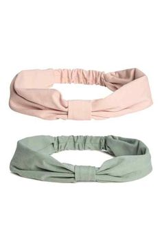 Soft jersey hairbands with a knot detail at front and elastication at back. Teen Swag Outfits, Kids Outfits, H&m Fashion, Kids Fashion, Turquoise Rose, Accesorios Casual, Baby Couture, Pink Kids, Powder Pink