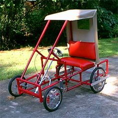 American Speedster :: Home :: Ultimate DIY Quadracycle :: 4-Wheel Cycles :: Dual Incumbent Bicycle :: DIY Quad Cycle : Do It Yourself Quadricycle : Pedal Electric Motor Four 4 Wheel Pedal Cart
