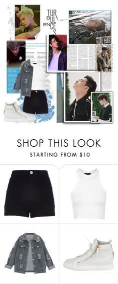 """Got7 Hard Carry"" by ninaxo17 on Polyvore featuring River Island, Topshop and Giuseppe Zanotti"