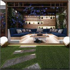 Admirable Modern Backyard Design Ideas You Will Love 01 Backyard Patio Designs, Modern Backyard, Backyard Landscaping, Landscaping Ideas, Backyard Ideas, Rooftop Terrace Design, Terrasse Design, Outdoor Living, Outdoor Decor