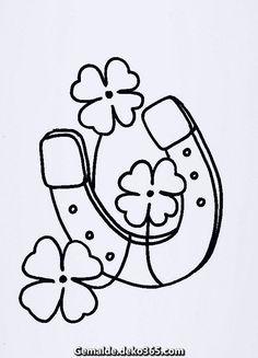 malvorlage - gluecksschwein mit hufeisen als ausmalbild