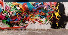 My mind depicted in street art