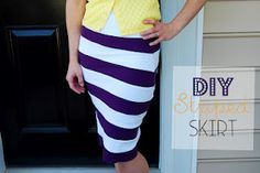 Can't wait to make this Knock-Off Striped Skirt!