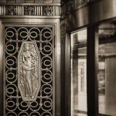 Deco design details at Waldorf Astoria New York.