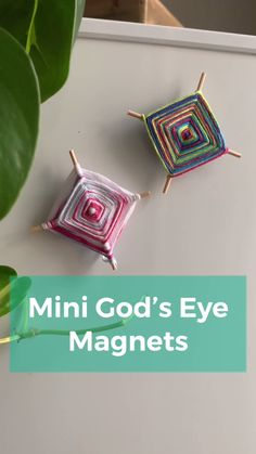 Mini God's Eye Magnet - Make an adorable camp throwback magnet using materials your already have in your house! Summer Camp Art, Summer Camp Crafts, Summer Camps For Kids, Camping Crafts, Camping With Kids, Summer Kids, Diy Summer Projects, Kids Camp, Art Camp