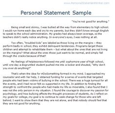 high school personal statement essay examples