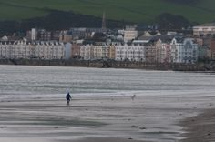 Playing on the shore in Isle of Man