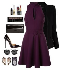 """""""I feel comfortable in black"""" by chase-stars ❤ liked on Polyvore featuring Alexandre Vauthier, Christian Louboutin, Cinq à Sept, Charlotte Russe, tarte, Dolce&Gabbana, Prada and Nak Armstrong"""