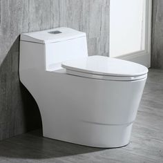 WOODBRIDGE Dual Flush Elongated One Piece Toilet with Soft Closing Seat Comfort Height Water Sense High-Efficiency Rectangle Button Pure White Improvement Safety Equipment-Gear Protection Ear Muffs Care Vacuums-Electric Brooms Improvement Fixtures