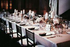 Blush black vintage wedding ballroom cream flowers gold candles long tables #nancyliuchin kohl