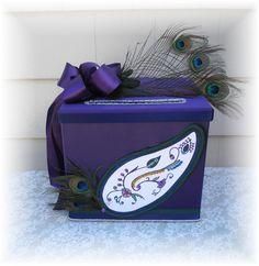 #cardbox #cardholder #peacockwedding We could use something like this for the rings.